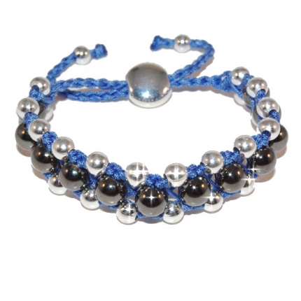 Blue Shamballa Tresor Paris Style Friendship Bracelet